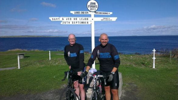 Royal Mail staff take on the gruelling Lands End to John O'Groats for Prostate Cancer UK