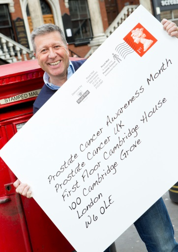 Dr Fox models the Royal Mail poststamp