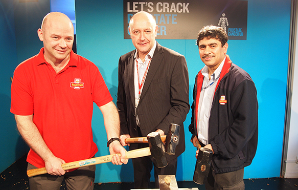Royal Mail take a sledgehammer to prostate cancer