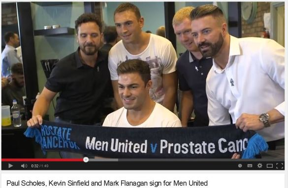Rugby and football stars pop in for a trim and sign for Men United