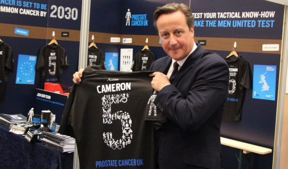 David Cameron signs for Men United at the Conservative party conference
