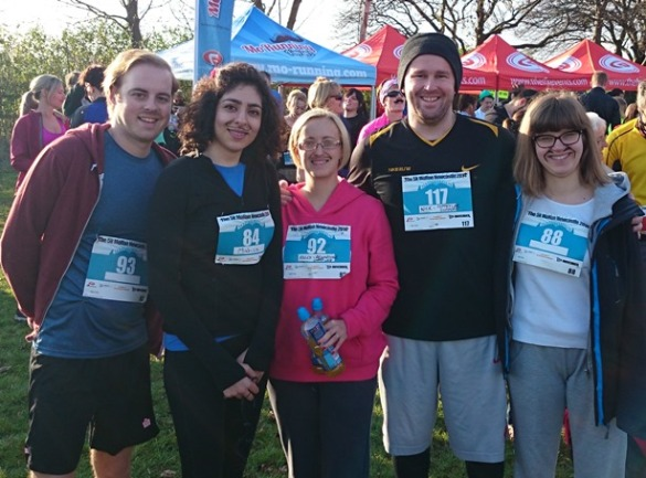Kelly Coffey's team at the mo run